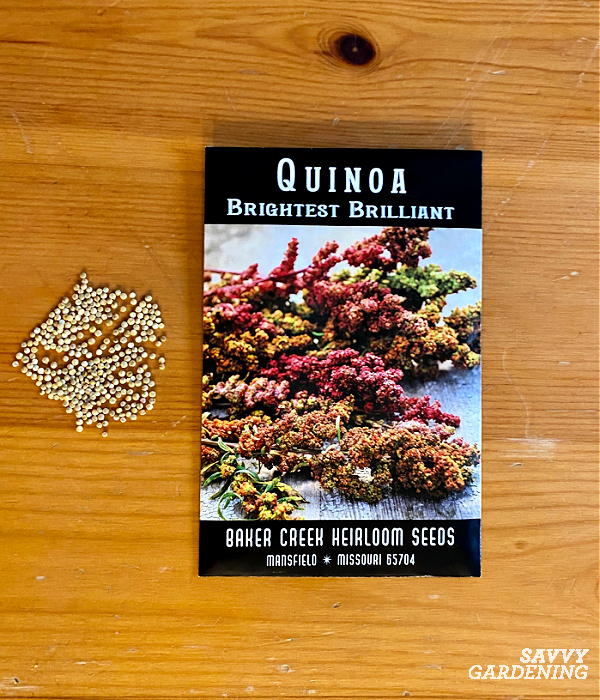 Quinoa seed packet
