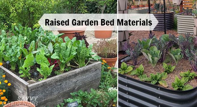 raised garden bed materials