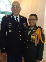 Me with my Senior Army Instructor after I received my All-City Cord at a recognition luncheon