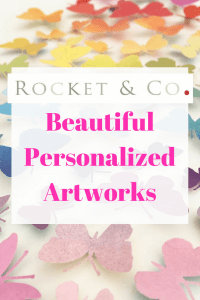 Rocket & Co. makes the most beautiful personalized art works - perfect for when you need something extra special but have no idea what to get