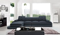 Cassidy's Modern Fabric & Leather Sectional  (5)