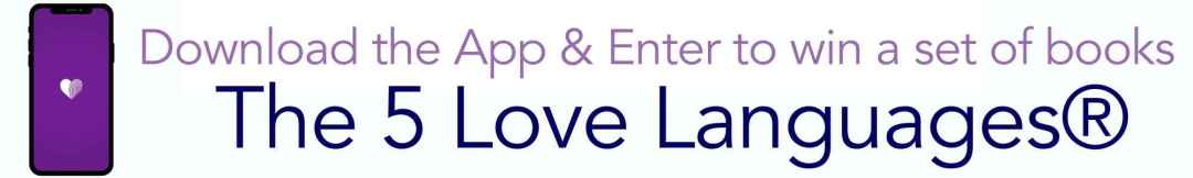 Download the LoveNudge App and be entered to win Dr. Gary Chapman's #1 New York Times bestseller The 5 Love Languages®, The 5 Love Languages for Men®, AND The Love Languages Devotional Bible (hardback)! Go to https://www.blessedfreebies.com/lovenudge.html to enter and for more details.