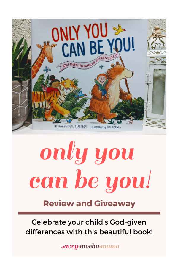 "Only You Can Be You! is a beautifully illustrated children's book by Nathan and Sally Clarkson that celebrates our differences. It is a reminder to children and children at heart that we are all truly ""...fearfully and wonderfully made"" (Psalm 139:14, KJV).tions of Bible characters and the content of the stories is condensed to the core principles of the Christian faith using age appropriate language. You'll want to read this Bible over and over again during your family devotions!"