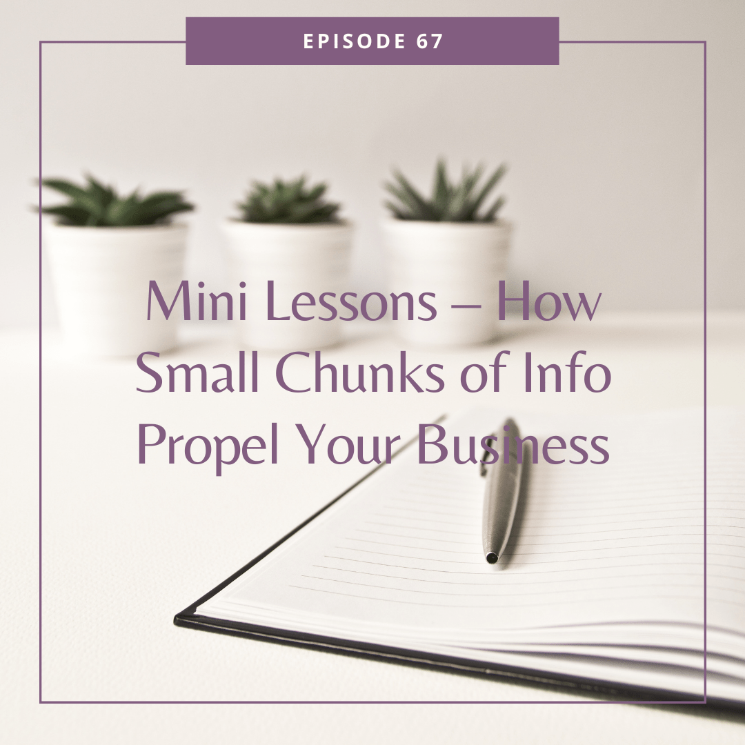 Mini Lessons – How Small Chunks of Info Propel Your Business