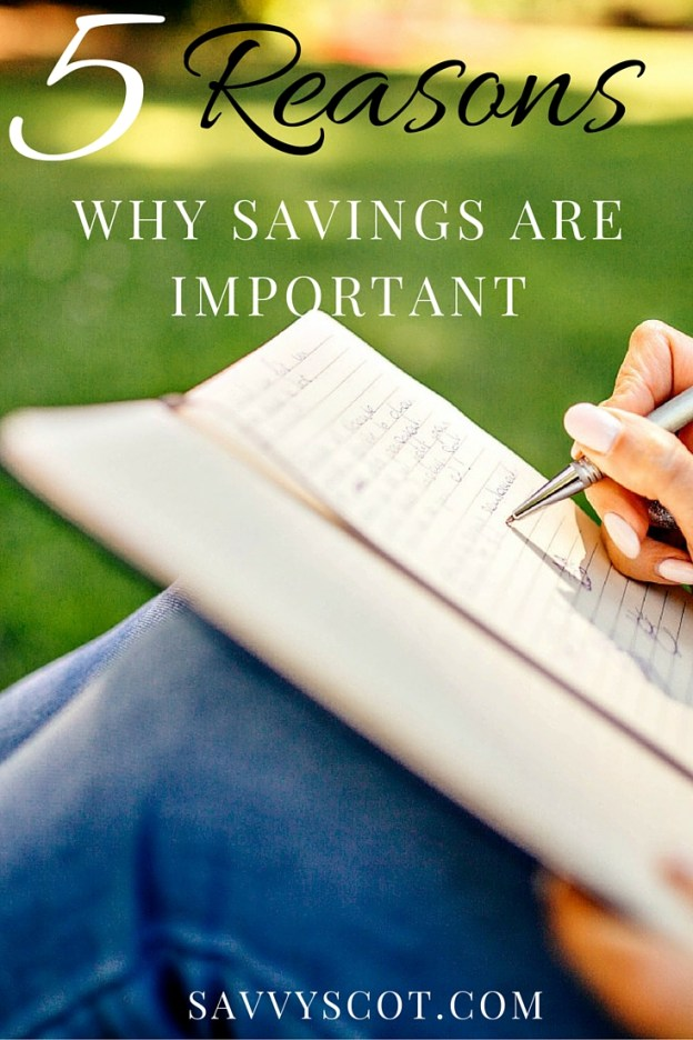 5 Reasons Why Savings Are Importa