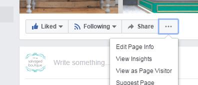 Facebook edit page info