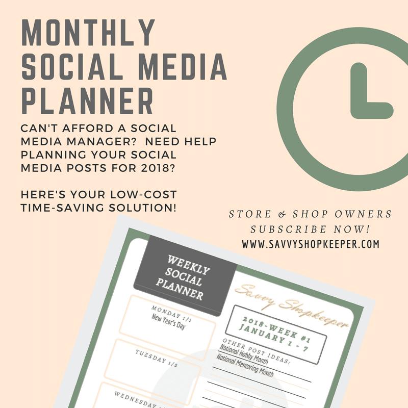 Monthly Social Media Planner
