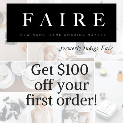 $100 off first Faire order