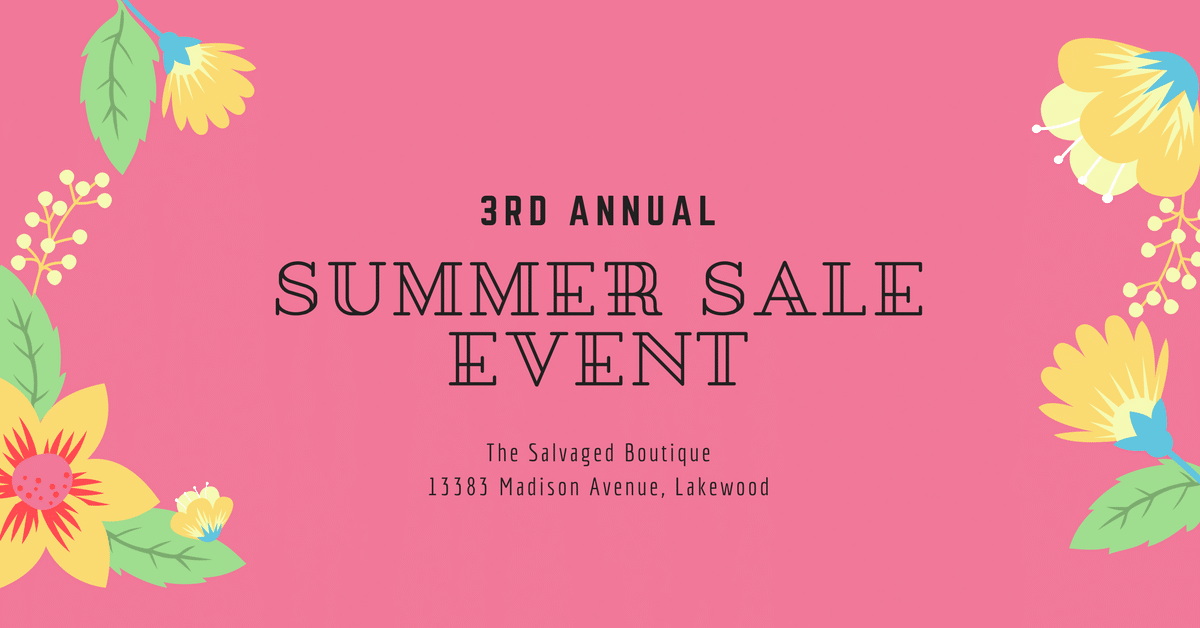The Salvaged Boutique Summer Sale Event
