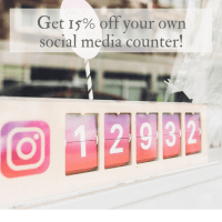 Smiirl Social Media Counter