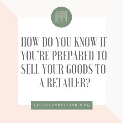 sell goods to a retailer