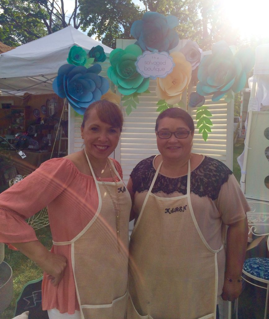 Kathy and Karen at The Summer Market 2017