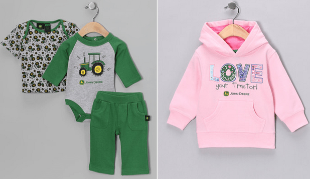 Zulily john deere apparel for kids as low as plus for John deere shirts for kids