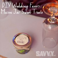 SIMPLE AND INEXPENSIVE DIY WEDDING FAVORS: MASON JAR TREATS