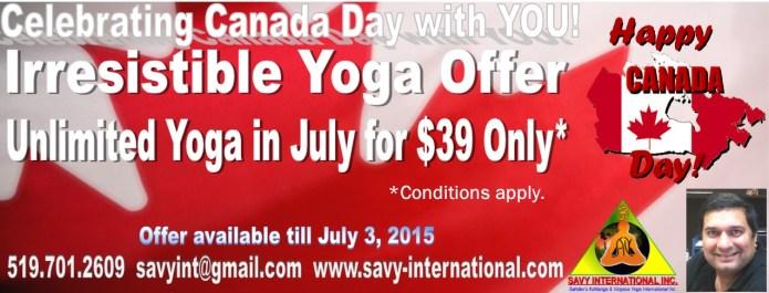 Canada Day Yoga Deal