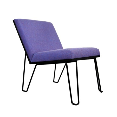 Front view of Matt Synergy bespoke accent chair on white background