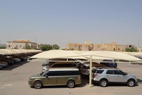 مظلات مواقف سيارات مظلات معرض التخصصي بالرياض