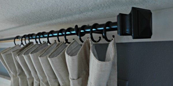 Conduit Curtain Rod With End Caps Sawdust 2 Stitches