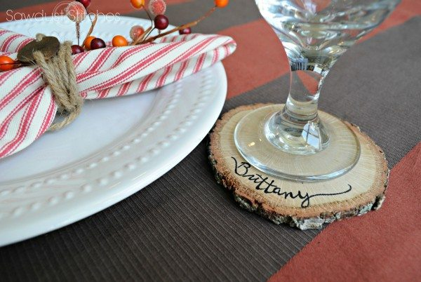 Hostess Gift Ideas - Personalized Wood Slice Coasters