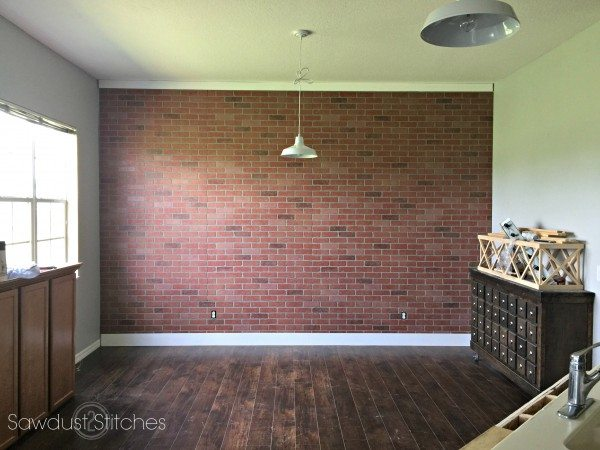 How To Faux Brick Wall Panel By Sawdust2stitches Com