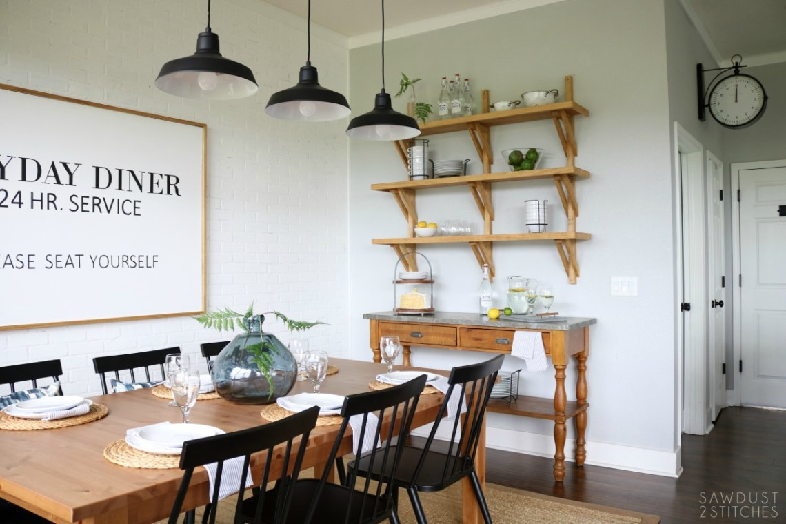 Modern Farmhouse Dining Room Makeover 7 Sawdust 2 Stitches