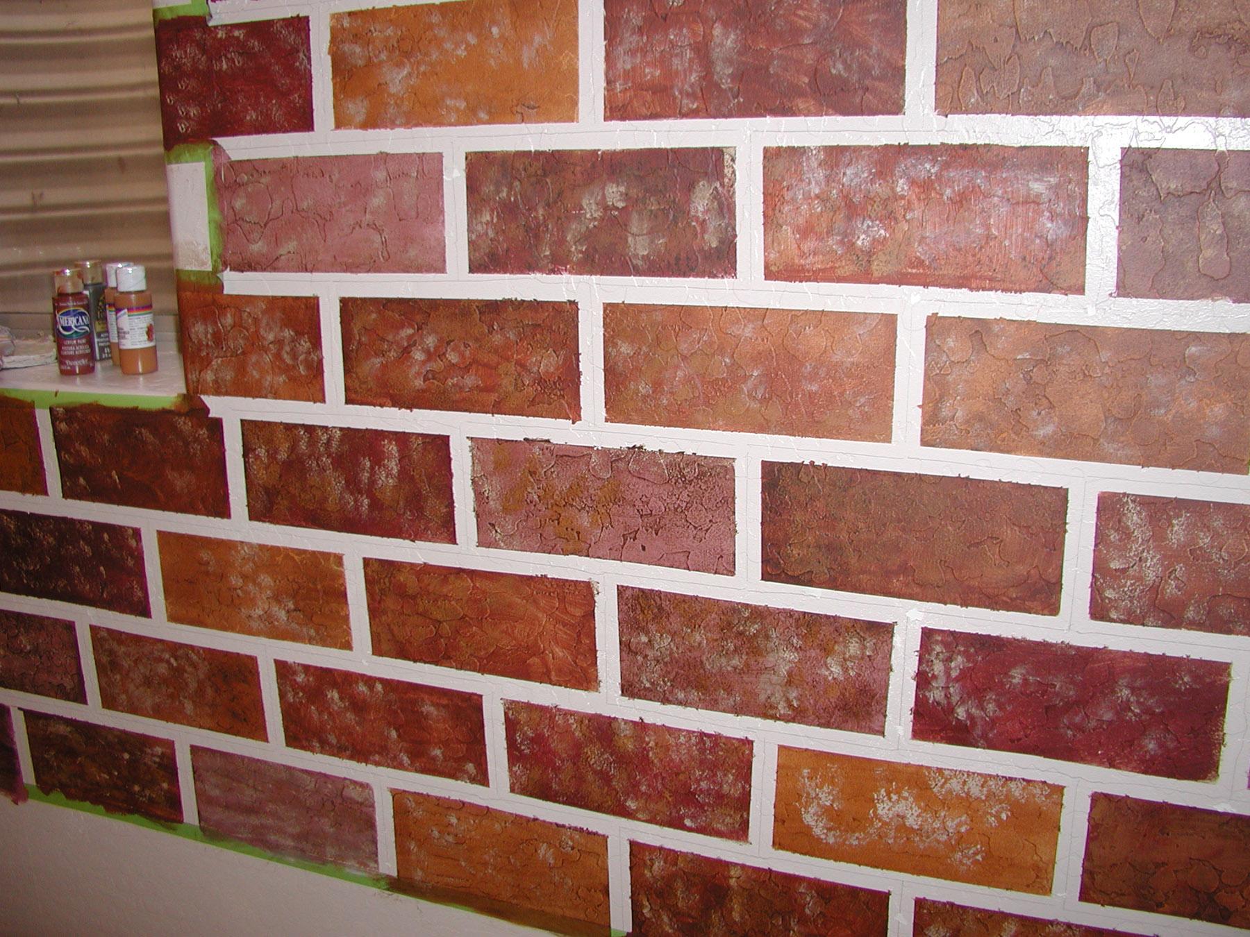 Wall treatment ideas | Sawdust and Paint on Brick Painting Ideas  id=21069