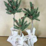 pine tree topiaries
