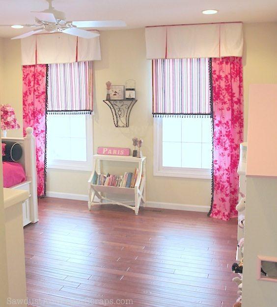 girl bedroom window treatment