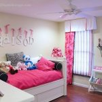 pink and zebra bedroom