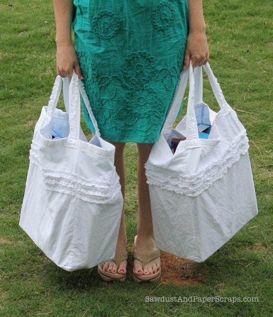 Reusable Tote Bag Sewing Tutorial