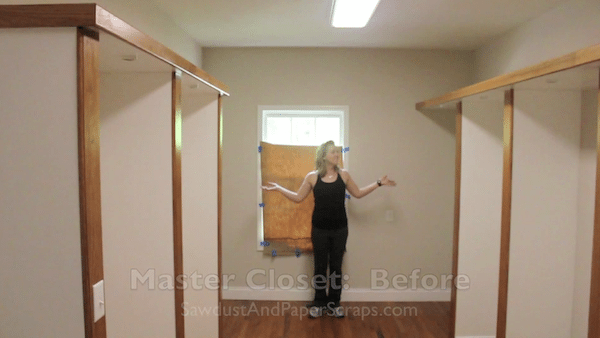 master closet remodel - before and after photos