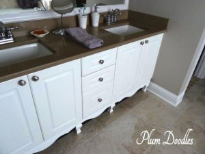 how to make your bathroom vanity look like custom furniture