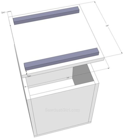 DIY Storage Bench free plans and tutorial