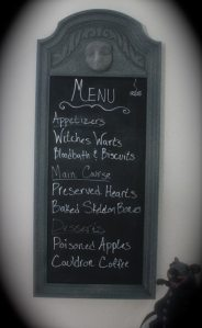 halloween chalkboard menu