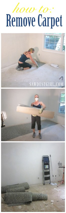 How to remove carpet. Easy steps for carpet removal.