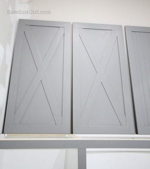 Laundry room cabinet doors