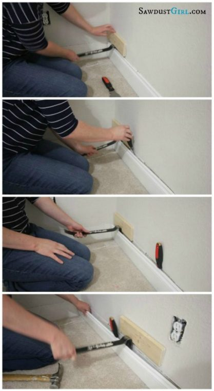 how to remove baseboard from walls