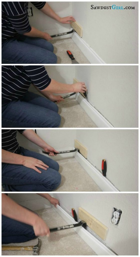How to remove molding without damaging wall or trim