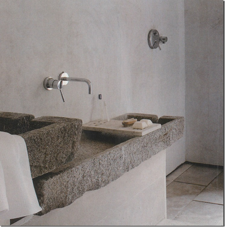decorating with primitive stone basins