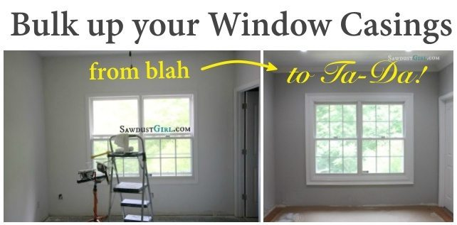 Trick out your existing window casing by adding another layer of trim moulding to really amp up the awesomeness of your doors and windows!