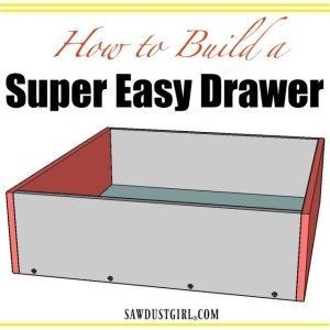 How to make the easiest drawer you could ever build