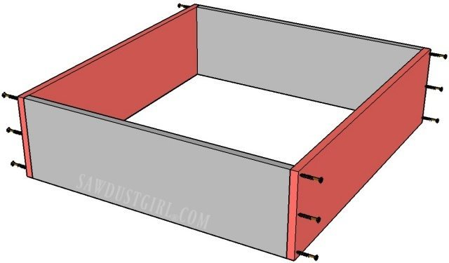 Easy cabinet drawer construction