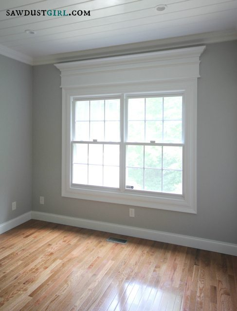 Door and Window Trim Molding with a Decorative Header & Create awesome door and window trim molding by layering - Sawdust Girl®