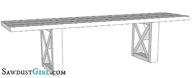 Super easy X Leg Bench - free woodworking plans