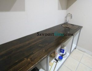 Wood sink insert at SawdustGirl.com