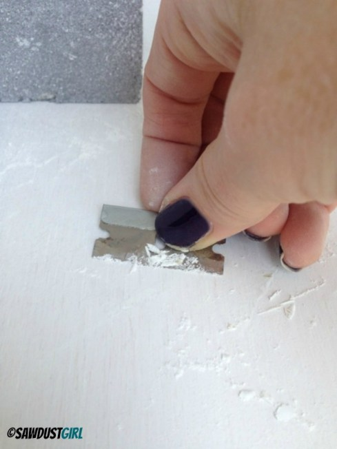 how to remove paint drips and lines