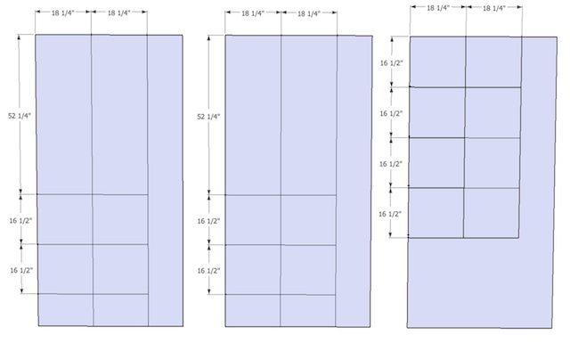 Queen Platform Bed with Storage - cut list