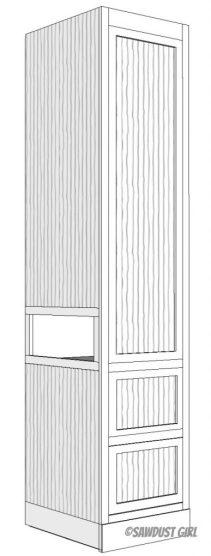 Bedroom Tower Cabinet