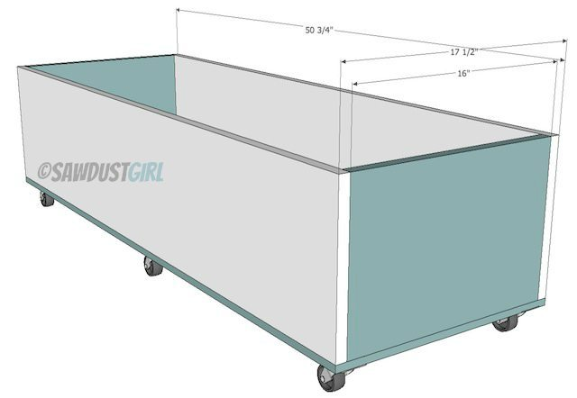 Building a pullout storage trundle for a queen platform bed