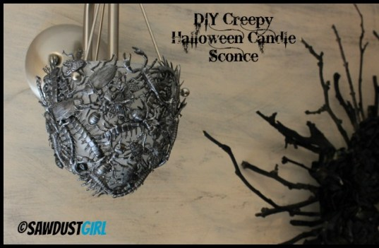Creepy DIY Halloween Candle Sconce